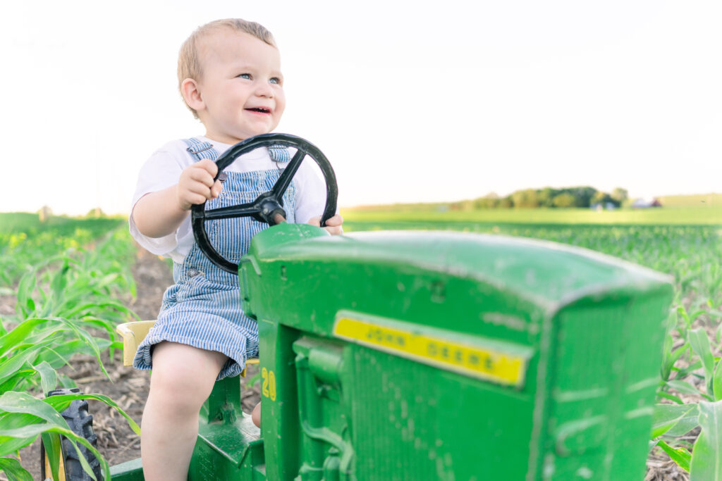 Warren's spring 2021 antique pedal tractor photo session
